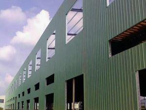 Steel construction of iron shed