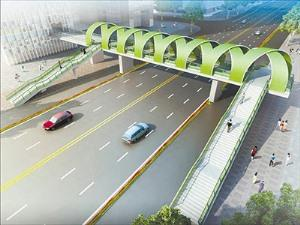 Supporting type steel structure overpass